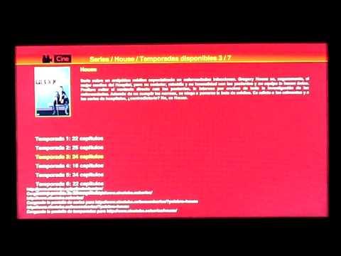 Aplicación Cine, Series y Documentales para el WebTV de Blusens