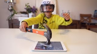 Apple IPad Vs Hammer ! That's Why We Destroyed It !