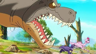The Land Before Time |  Scariest Sharptooth Moments Compilation | Cartoons For Children