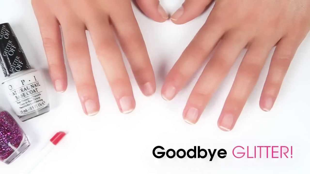 OPI Glitter Off Peelable Nail Base Coat - YouTube