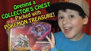 EARLY! Pokemon Sun and Moon Collector's Chest Opening! GREAT PULLS!
