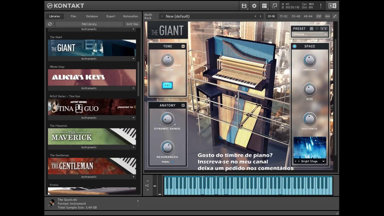 The Giant Piano Kontakt 5 Link Na Descricao Youtube