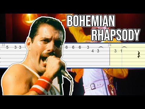 Queen - Bohemian Rhapsody Guitar Tab Tutorial