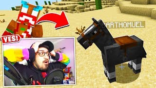 I FOUND LAZARBEAM'S LOST HORSE!! (Minecraft)