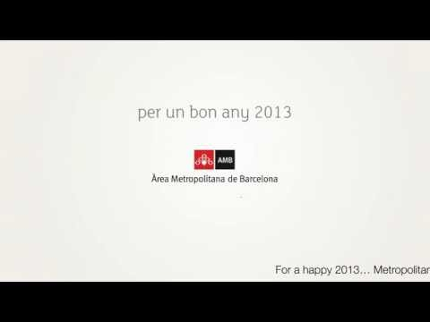 Happy 2013 from Àrea Metropolitana de Barcelona