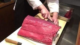 金枪鱼(tuna、鲔鱼)分切成赤身用原料的过程 Part 2 Travel Channel 2016 thumbnail