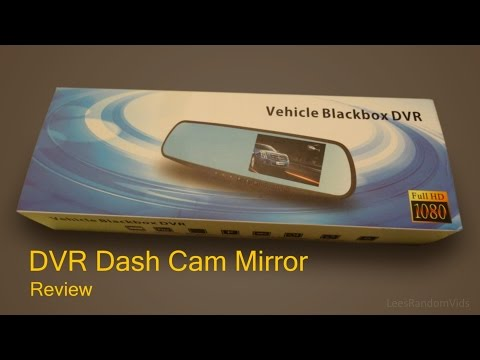 Vehicle Blackbox DVR Full HD 1080p Dual Dash Cam Mirror And Rear Camera - Review And Unboxing.