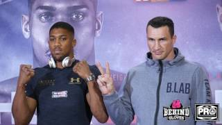 PURE RESPECT! JOSHUA AND KLITSCHKO FACE OFF AT THE FINAL PRESS CONFERENCE