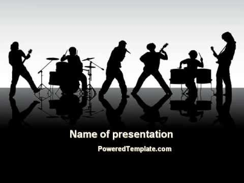 Music Band PowerPoint Template by PoweredTemplate.com