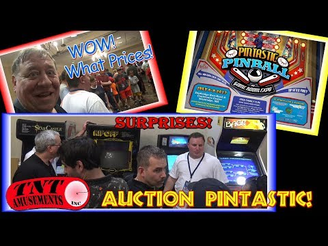 #1292 PINTASTIC  AUCTION!  Pinball and Game Room Show & Surprises! TNT Amusements