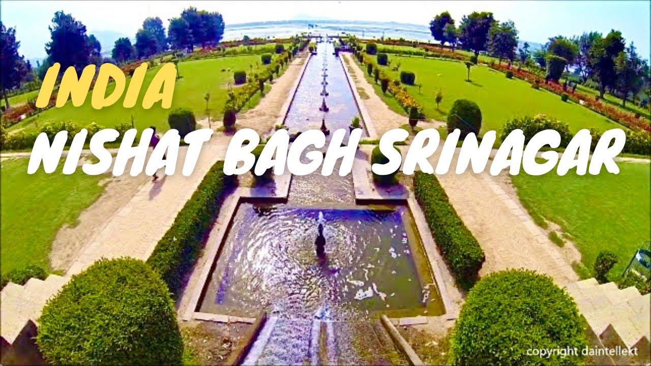Nishat bagh beautiful mughal gardens srinagar kashmir india hd youtube