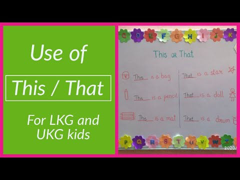 "Use of This / That | How to teach ""This"" ""That"" to kids 