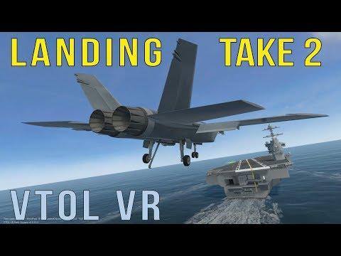 Carrier Landing Take 2 | VTOL VR
