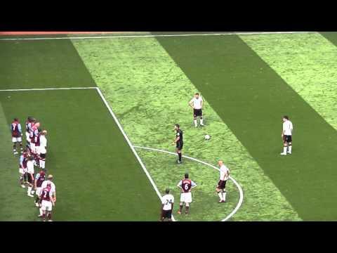 Fabio Aurelio Freekick For Liverpool V Aston Villa FC (2011)