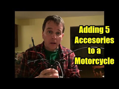 Winter Motorcycle Project:  Adding Electrical Accessories & Fuse Block