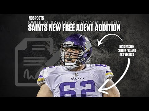 timeless design 3866a 4879f New Orleans Saints Free Agency | Saints Sign Center Nick Easton to a FOUR  YEAR DEAL