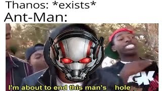 Ant Man Defeats Thanos by Crawling up His Butt (funny Memes)