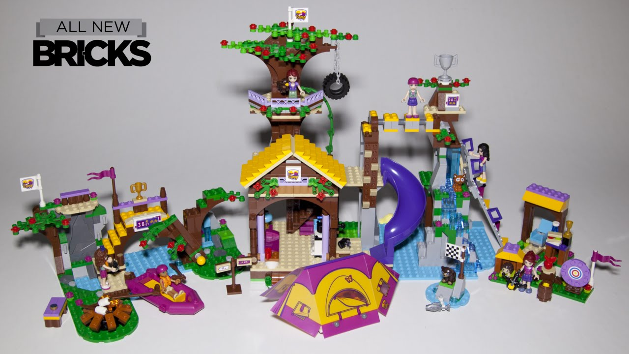 Lego Friends 41122 Adventure Camp Tree House With Rafting And Archery Youtube