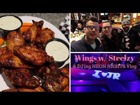 WINGS WITH STEELZY & DJ'ING AT A TRAMPOLINE PARK! (VLOG)