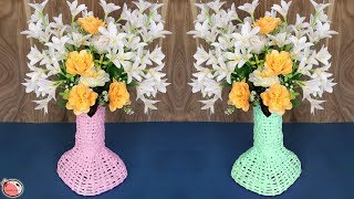 Flower Pot Making From News Paper || Best Out Of Waste Idea 2019 !!! DIY Room Decor