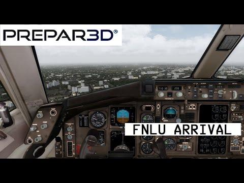 [P3D] 757-200  | Lisbon LPPT - Luanda FNLU | Approach and Landing (HD)