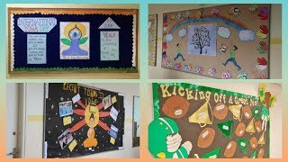 Yoga day School display board ideas || display board ideas for school |