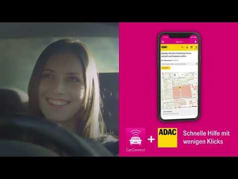 Social Media Post: Sicherheit und Schutz fürs Auto. Car Connect als Reisebegleiter.