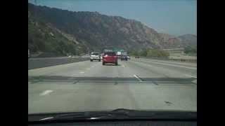 Dashcam: Remarkably light traffic on 91 freeway