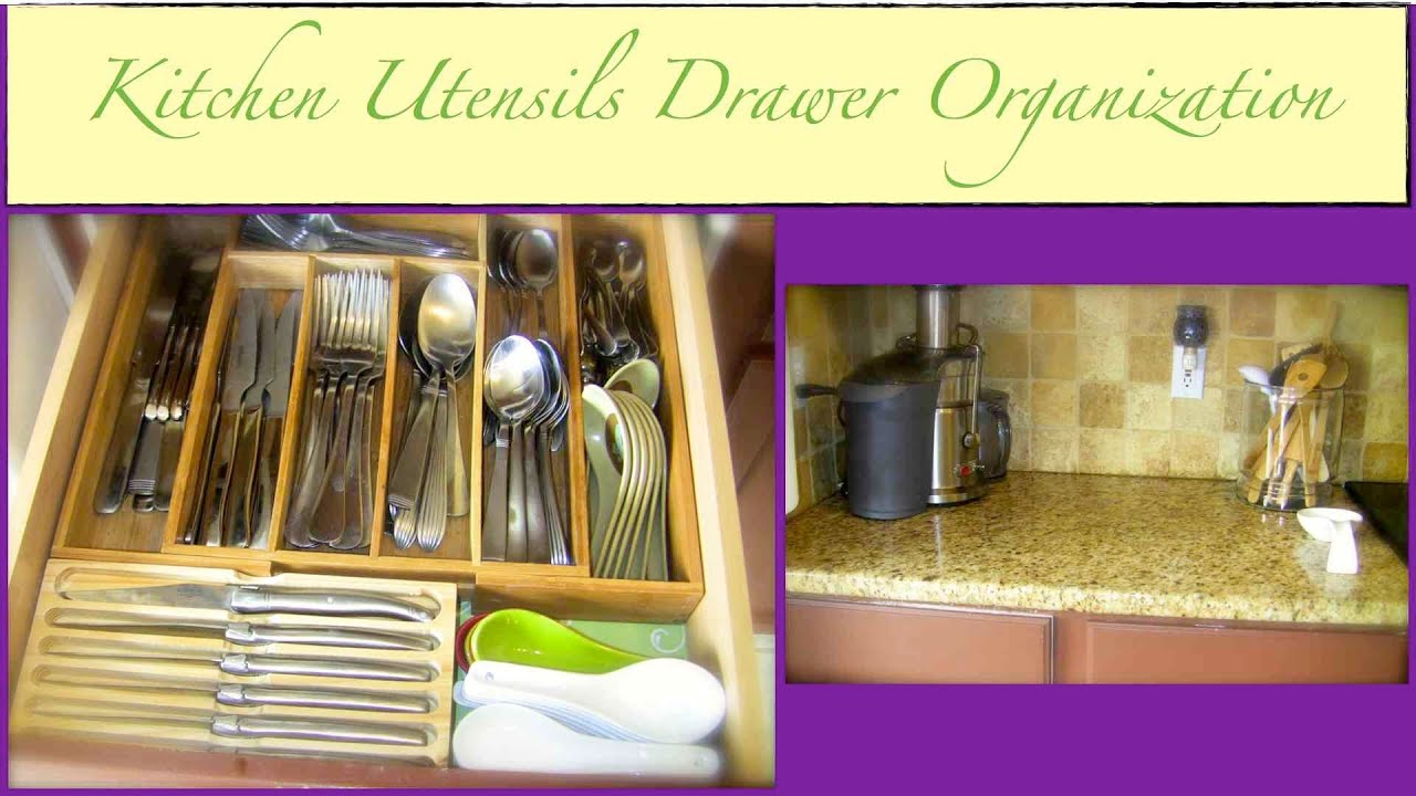 An Organized Home: Kitchen Utensils Drawer Organization Part 1 Of 2 {how To  Organize}   YouTube