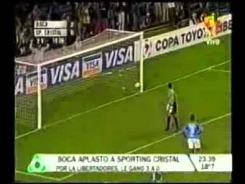 2do. Gol de Palermo a Sporting Cristal (Boca 3-Sporting Cristal 0 02-03-2005)