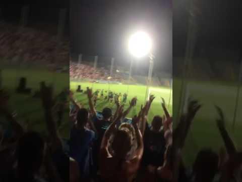 Pisa-Varese 3-1 coppa Italia 30/07/17 squadra sotto la curva fine partita