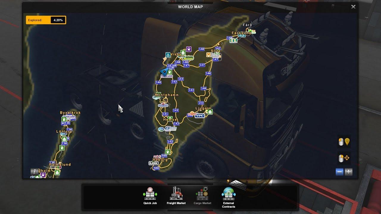 1 34] Euro Truck Simulator 2 | Swedish Islands Map | Mods