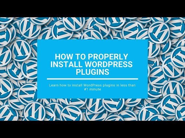 #WordPressPlugins #install How To Properly Install WordPress Plugins in 1 minute