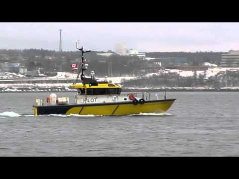 Pilot Vessel Underway, Halifax, Nova Scotia