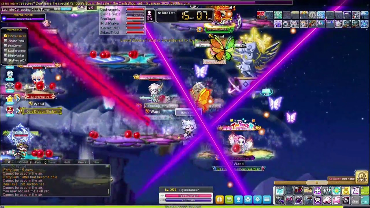 MapleSEA Cassiopeia Wand Guild Normal Lucid Boss Run