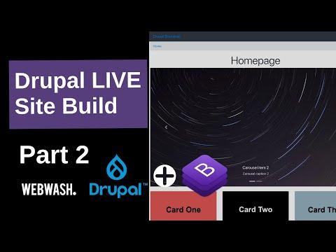 Drupal Live Site Build (Part 2) - Create Layout Builder Section, Bootstrap Carousel