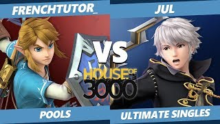 Smash Ultimate Tournament - frenchtutor_ (Link) Vs. Jul (Robin) SSBU Xeno 171 Pools