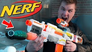 NERF GRENADE LAUNCHER! W/ Real Grenade