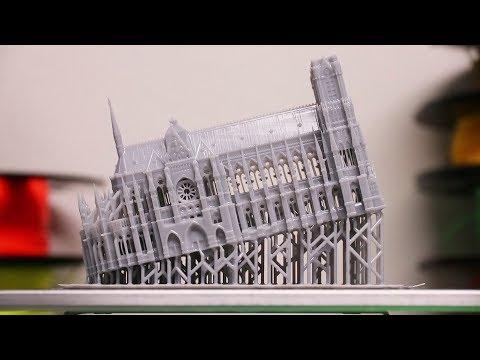 3D Printer Makes High Detailed Notre Dame
