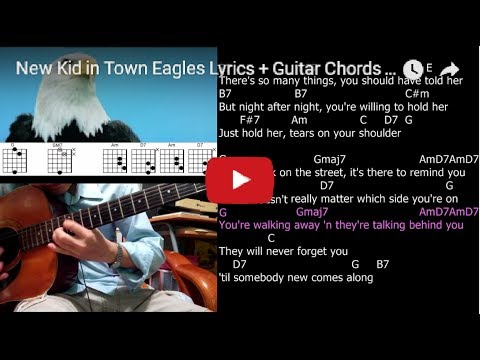 New Kid in Town Eagles Lyrics + Guitar Chords + Solo - YouTube