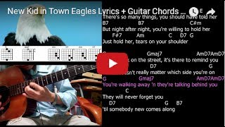 New Kid in Town Eagles Lyrics + Guitar Chords + Solo