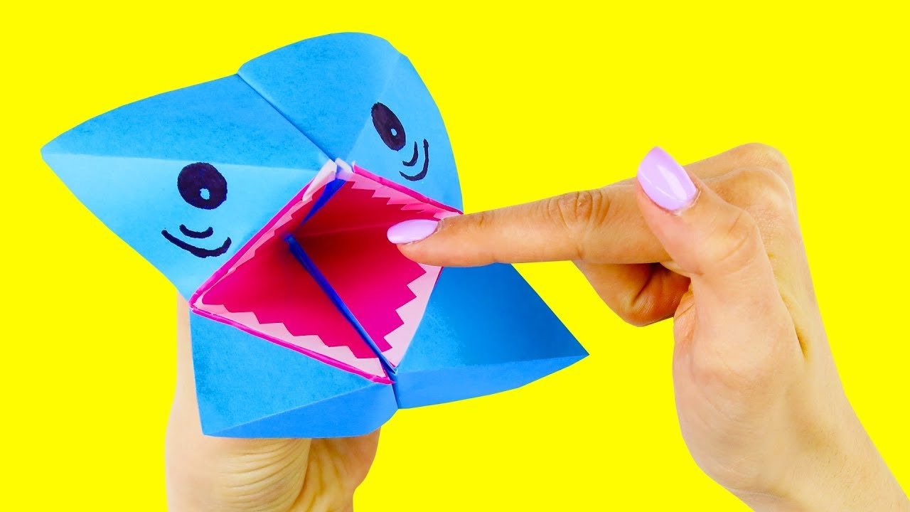 How to Make an Origami Baby Shark Puppet | Animal Song With ... | 720x1280