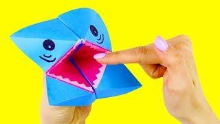 Origami Shark For Children (DIY Toys For Babies)
