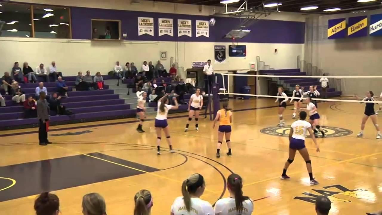 Geneseo vs Nazareth Women's Volleyball 10.29.14 - YouTube