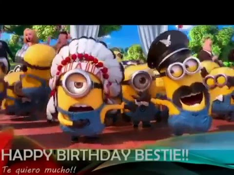 Minions wishing happy birthday-amazing video
