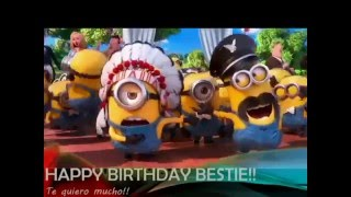 minions wishing happy birthday amazing video