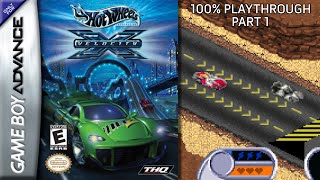 Hot Wheels Velocity X GBA 100% Playthrough - Part 1