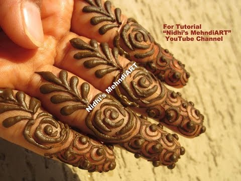 Easy Rose Arabic Fingers Henna Mehndi Design Tutorial Youtube