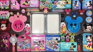 Mickey Mouse Slime Pink Vs Blue | Mixing Too Many Things into Glossy Slime | Satisfying Slime Videos