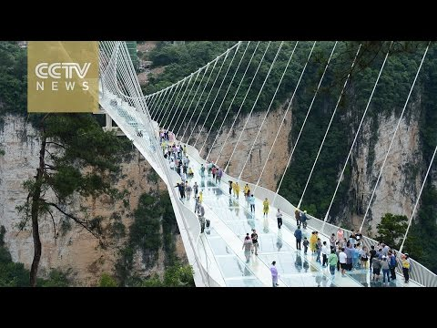 World's highest and longest glass bridge to open in China
